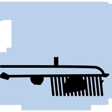 Gum points close-up