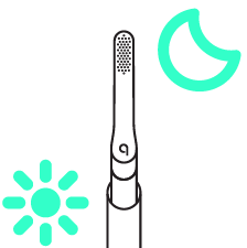 quip toothbrush with sun and moon